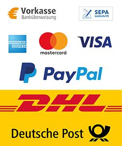Unsere Zahlungsarten und Versandoptionen